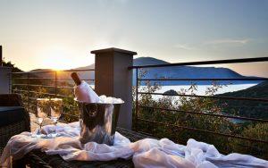 Eumaeus Villa Katerina Ithaca balcony view